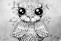 Coloring for Adults ~ Animals / Animal coloring pages.