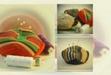 Pin cushions / My pincushions. Handmade item. Aprox. 8cm  x 8cm. Ethnographic style. Another pin cushions.
