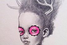 Dreamy Drawings / Drawings of the female form