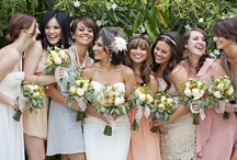 Bridesmaids, <3  / Ideas for colors, and dresses for the bridesmaids & some neat personalized things to do with them.
