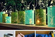 Tee-se-itse puutarhassa - DIY in garden / Vinkkejä kuinka puutarhassa voi tehdä asioita itse. - How to do things in garden by yourself.