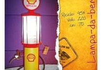LAMPADE / Lampade create con... #selz #portaghiaccio #bottiglie #benz #distributori caramelle