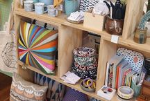 Creative display ideas / Ideas for display; craft fairs, shop display and in the home.