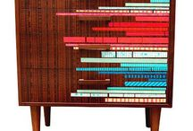 Upcycling: Furniture inspiration / Examples of inspiring furniture upcycles; ideas and examples of use of paper, colours and patterns.