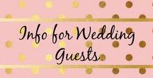 Info for Wedding Guests / These are ways to kindly ask your guests not to get in the way of the photographer while the ceremony and special moments are going on. This also lets guests know if you have a hashtag for your wedding and what it is if they post photos from the wedding.