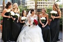 Black + White + Gray Wedding