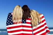 July Fourth Dreamin' / American fashion in red, white and blue!