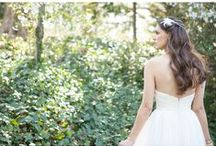 Wedding Hair / Hairstyle options for brides.