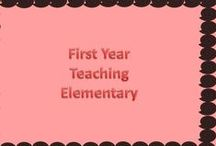 First Year Teacher- Elementary  / This board is to help a first year teacher! Fellow teachers will pin ideas in order to help make your year great!