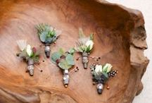 Boutonnieres / Creative boutonnieres for the groom