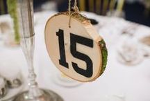 Table Numbers & Place Cards / Table number and place card ideas for weddings
