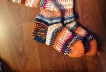 My achievements / Over the decades I have knitted numerous pullovers and cardis. Then after a very long pause I started knitting again: mostly socks  - 2 pairs of mittens too. These I had not knitted ever before (who counts school?).