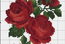 flores ponto cruz
