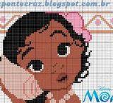 Gráficos de Princesas Disney ponto cruz / Grafico e Monograma (gráficos feitos por Dinha ponto cruz e Carina Cassol)