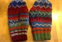 Colourful hands / Mittens with patterns and colours. I have knitted only 4 pairs so far...