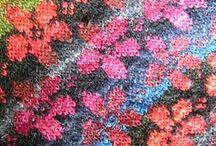 Colourwork details and patterns.