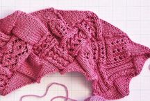Knitted 1 colour patterns + details