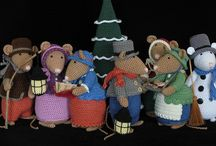 Dickens muizen familie and mices / Mouses.  Crochet and knitting.