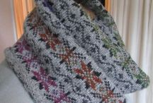 Around the neck and back - colourwork