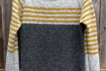 Striped cardis and pullovers