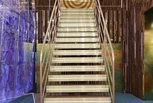 Stairs / Stairs is a term applied to a complete flight of steps between two floors. A stair flight is a run of stairs or steps between landings. A staircase or stairway is one or more flights of stairs leading from one floor to another. / by Matthew Mortensen