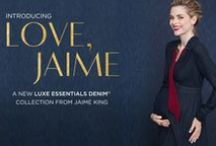 Love, Jaime / Jaime King's Holiday Capsule Maternity Collection for A Pea in the Pod: LOVE, JAIME for Luxe Essentials Denim