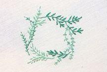 Embroidery: Sticken / Sticken! Mit Nadel und Faden, im Rahmen, nach Vorlage oder ganz ausgefallen. // Lovely Embroidery Ideas