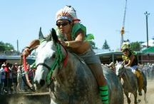 Horseracing & Indian Relays / Pari-mutuel Horse Racing and Indian Relays are held 4 days of the fair each year, the fastest sport at the fair!
