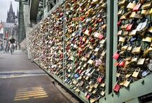 Spot on... Love padlocks! / Love padlocks... all over the world! A custom by which padlocks are affixed by sweethearts