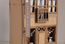 Dolls house/ cardboard buildings
