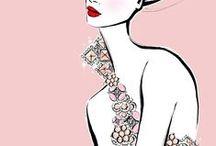 Inspo | Fashion Illustrations / Fashion looks good, even on paper / by Coronet Diamonds