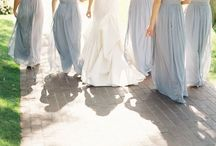 Every bride needs her bridesmaids! / We currently carry these bridesmaids dresses at our salon!