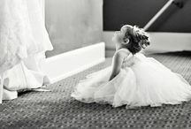 Flower girls / We cannot forget about the little ones! Ideas for flower girl dresses. We also carry Dessy girl, Kisses n Love, Lillie Couture, and Jessica Lynn in our salon.