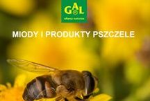 Miody i produkty pszczele GAL / Portfolio miodów oraz produktów zawierających propolis, mleczko pszczele, pyłek kwiatowy.