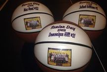 Bball / Personalized Basketballs make great gifts for seniors, coaches, and players.