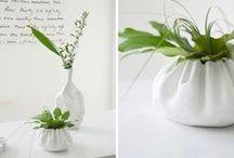 Keramik i hvid og porcelæn