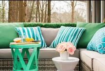 Summer Patio. / Spring and summer patio styles.