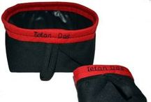 Travel Waterproof Dog Bowls / Waterproof Washable small enough to fit in your pocket WWW.TETONDOG.COM