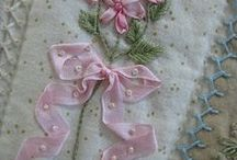 Bordado con cintas - Ribbon embroidery