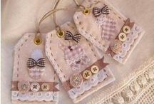 Etiquetas tela, sachets / Fabric tags / by Marta Algaba