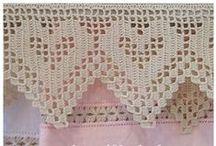 Crochet puntillas - Edgings / Encajes y puntillas de crochet. Edges, beading, lace