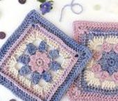 Crochet grannys, cuadrados, redondos y muestras / Crochet grannys, squared, rounded and patterns