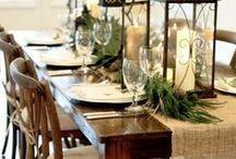 Christmas table decorating / Setting the table for Christmas