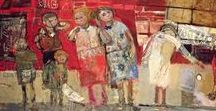 Joan Eardley / Joan Kathleen Harding Eardley was a British artist noted for her portraiture of street children in Glasgow and for her landscapes of the fishing village of Catterline and surroundings on the North-East coast of Scotland. 1921-1963