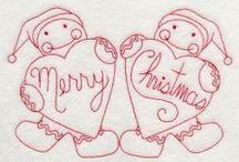 Redwork Navidad - Christmas