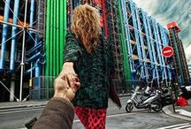 "Follow me / Murad Osmann, Russian photographer, born in 1985, these interesting pictures in Instagram called ""Follow me"", all the photos are a mysterious woman holding your hand, take you to different beautiful places. In fact this is Osmann and his girlfriend were travelling the world."