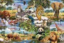 Zwierzęta na czterech łapach / Ta tablica przedstawia zwierzęta.