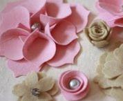 Fieltro flores - Felt flowers