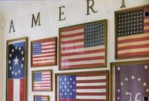 America, The Beautiful / A board to serve as inspiration for all the ways we can pay homage to our great nation through the American flag.