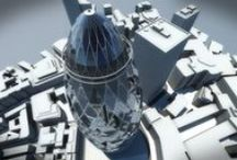 The Gherkin / Study about the Building that might be the Beginning of Architecture in 21st century. The building uses energy-saving methods which allow it to use half the power that a similar tower would typically consume.